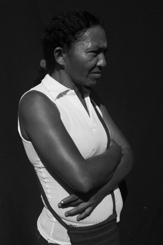 "Maria, 49, was displaced from her home in pueblo Santa Fé in 1993 and has received humanitarian aid 4 times in the past 22 years. She is currently waiting for news about her request for housing (""la vivienda"")."