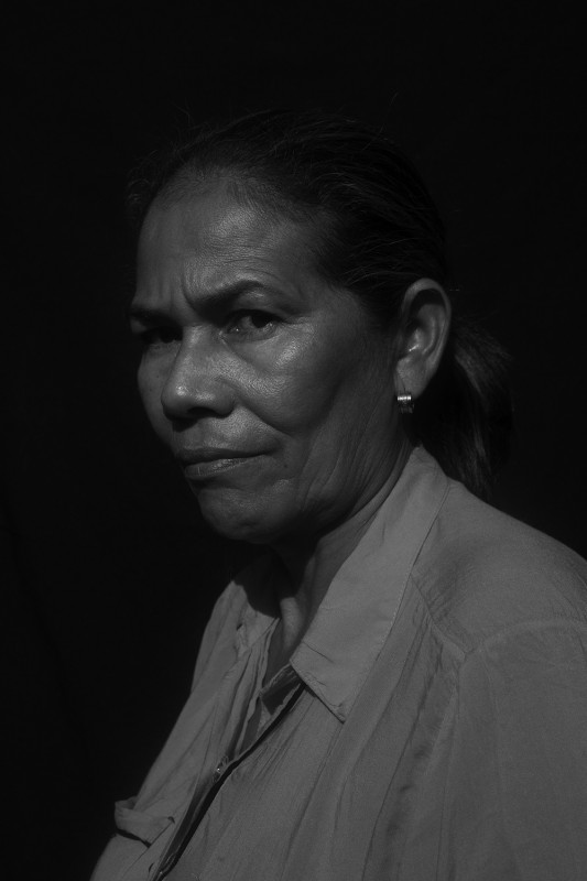 Dolores retired in 2013 after a poorly executed operation on her lower abdomen left her unable to work. She has to travel monthly to Cartagena from El Carmen ($15USD round trip) for doctors visits. After her husband was killed in 1995, she received 150.000 mil pesos, or $75 USD. She's left several messages at the office checking in on the status of her humanitarian aid payment but came to inquire in person.